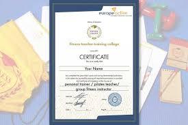 Курсы фитнес инструкторов Педагогический Колледж Фитнеса Европейский сертификат Европейский сертификат