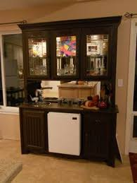 office wet bar. When I Couldn\u0027t Sell My Old Oak China Hutch Spray Painted It Expresso Brown, Removed The Bottom Drawers To Put In A Mini Fridge, And Added Deep Round Office Wet Bar