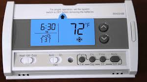 honeywell rth2310b 5 2 day programmable thermostat youtube honeywell thermostat rth2310b not working at Honeywell Rth2310 Wiring Diagram