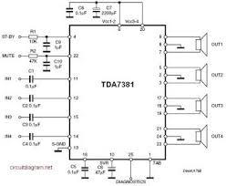 audio circuit diagram the wiring diagram tda7831 4x25w quad audio amplifier schematic diagram electronica circuit diagram