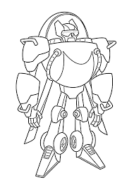 blades rescue bot coloring pages for kids printable free showy page