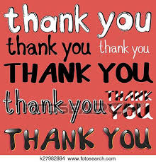 Word Thank You Clipart Of Thank You K27982884 Search Clip Art Illustration