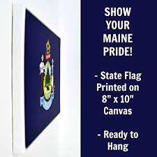 Operating out of old orchard beach, maine, tl maine decor specializes in custom wood signs, wall hangings, and much more! Maine Flag Wall Decor 8x10 Decorative Me Canvas Wall Art Prints Ready To Hang Maine Decor Home State Pride Collection Mainer Gifts And Decorations Pricepulse