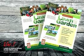Sample Flyers For Landscaping Business Lawn Care Flyer Template Word Infekt Me