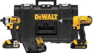 dewalt power drill. hot deal: dewalt 20v max impact driver, drill, toughcase combo kit power drill