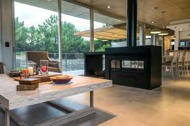 double sided gas fireplace for two cost room divider indoor outdoor