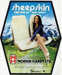 sheepskin car seat covers advert 1969