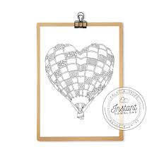We have collected 39+ balloon coloring page images of various designs for you to color. Printable Heart Hot Air Balloon Coloring Page Anna Grunduls Design