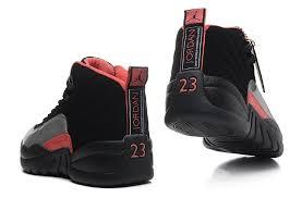 jordan shoes 12 red. girls air jordan 12 gs black grey red for womens onlline sale,jordan sneakers shoes