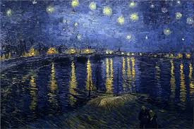 the starry night over the thone 1888 by vincent van gogh