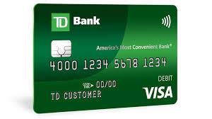 visa debit card td bank