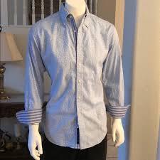 Robert Graham Shirt Size Chart Gorgeous Robert Graham Blue Skulls Dress Shirt L