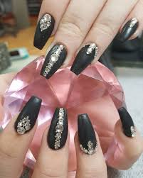 Coffin Black Nail Designs 30 Matte Black Nails Thatll Sweep You Off Your Feets