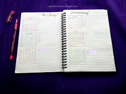 My Indian Version Bullet Journal Yearly Calendar And Birthday
