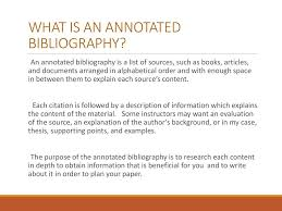 Is An Annotated Bibliography In Alphabetical Order Dont Want To