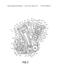adjustable valve train for an internal combustion engine and adjustable valve train for an internal combustion engine and engine and motorcycle incorporating same diagram schematic and image 03
