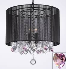g7 b21 black 604 3 gallery chandeliers crystal chandelier chandeliers with large black shade and pink crystal hearts