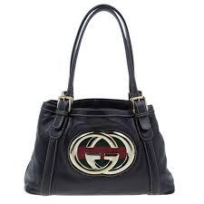 gucci brown leather britt medium tote bag nextprev prevnext