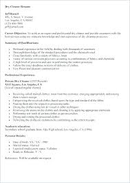 Another Word For Cleaner On Resume Cleaner Resume Sample Lesom