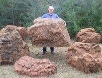 Fake Rocks For Covering Well Heads Or Landscape Beautification.