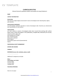 general cv template general cv template free templates in doc ppt pdf xls