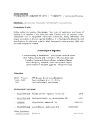 resumes for electricians effective letter of application electrician cover  letter sample resumes electricians examples