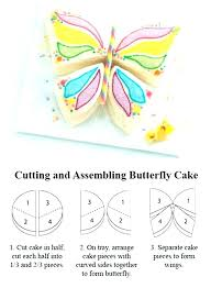Awesome Birthday Cake Elegant Butterfly Template Printable Synclaco