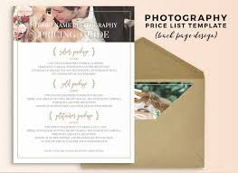 Photography Pricing Template Wedding Photography Pricing Guide Photography Pricing Guide Template