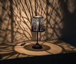 Tree Shadow Light Shade Tree Silhouette Table Lamp Unique Forest Light Modern