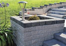 solid concrete block lightweight for retaining walls for garden enclosures
