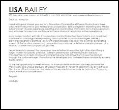 cover letter for a promotion promotions coordinator cover letter sample cover letter templates