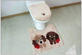 toilet seat cover set set winter thicken warmer washable bath mat cartoon toilet seat cover rug toilet seat