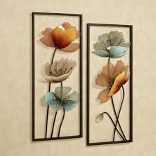 tuscany in bloom fl metal wall art set design ideas of metal flowers wall decor