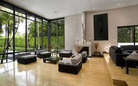 Living Room With Black Furniture Astounding Simple Living Room Design With Black Chairs And Sofa