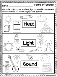 Forms Of Energy Heat Light Sound Super Second Grade Science