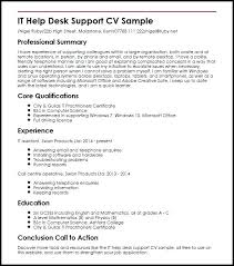 Help Desk Resume Sample – Andaleco
