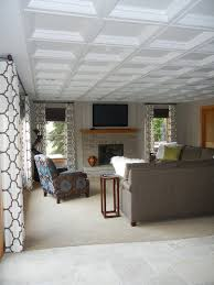 gallery drop ceiling decorating ideas. Magnificent Drop Ceiling Tiles Decorating Ideas For Basement Traditional Design With Coffered Gallery C