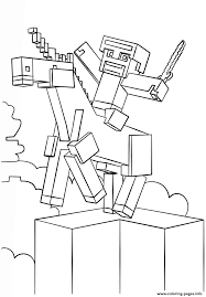 Minecraft Unicorn Coloring Pages Printable And