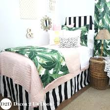black white bedding sets set a palm leaf black white light pink bedding black and white