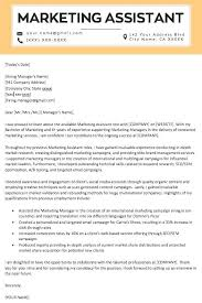 Assistant Marketing Manager Cover Letter Marketing Cover Letter Template Marketing Cover Letter