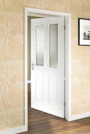 moulded panel doors 4 panel grained 2 light glazed