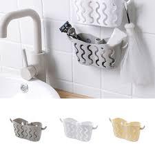 details about suction cup basket holder shower bathroom sink soap rack wall hanging storage