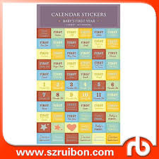 Baby First Year Calendar Stickers Baby Milestones And Babys Firsts Stickers Buy Baby Stickers Baby First Year Calendar Stickers Baby Milestones