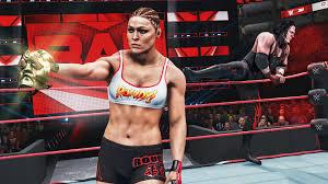 RONDA ROUSEY STEALS KANE'S GOLDEN NIGHTMARE MASK! WWE 2K20 Universe Mods • ElementGames