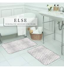 else black pink white stripes geometric nordec 2 piece 3d pattern print bath mats anti slip
