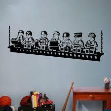 funny cartoon robots vinyl wall sticker boys room wall art decals kids decor on wall art for toddlers room with funny cartoon robots vinyl wall sticker boys room wall art decals