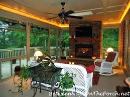 beautiful screened in porch with fireplace or a and deck renovation ideas f screened porch with fireplace
