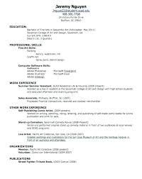 First Job Cv Template For First Job Cv Large Size Of How To Write A
