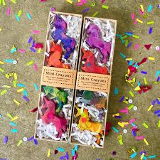 mini unicorn original rainbow crayons gift set of 4