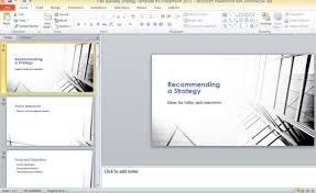 Powerpoint 2013 Template Location Free Business Strategy Template For Powerpoint 2013